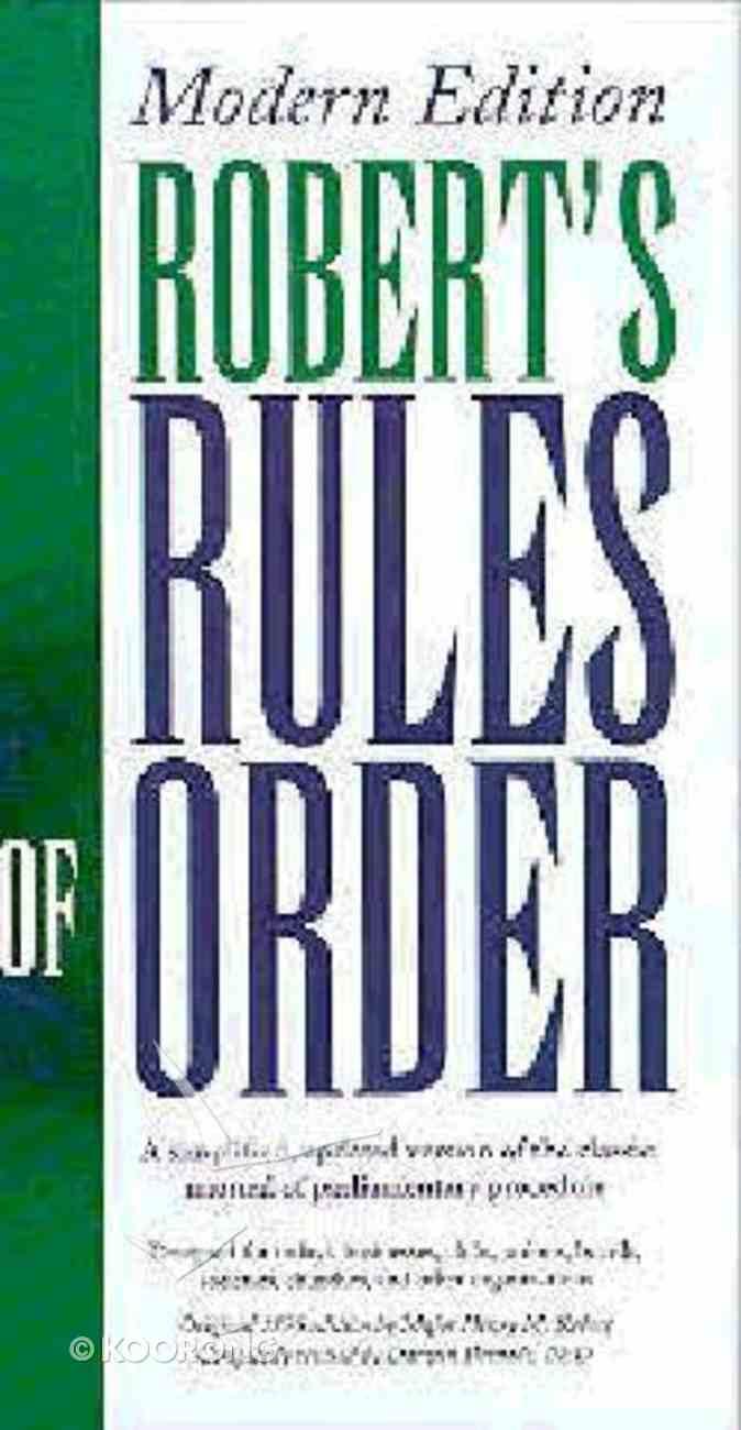Roberts Rules of Order Hardback