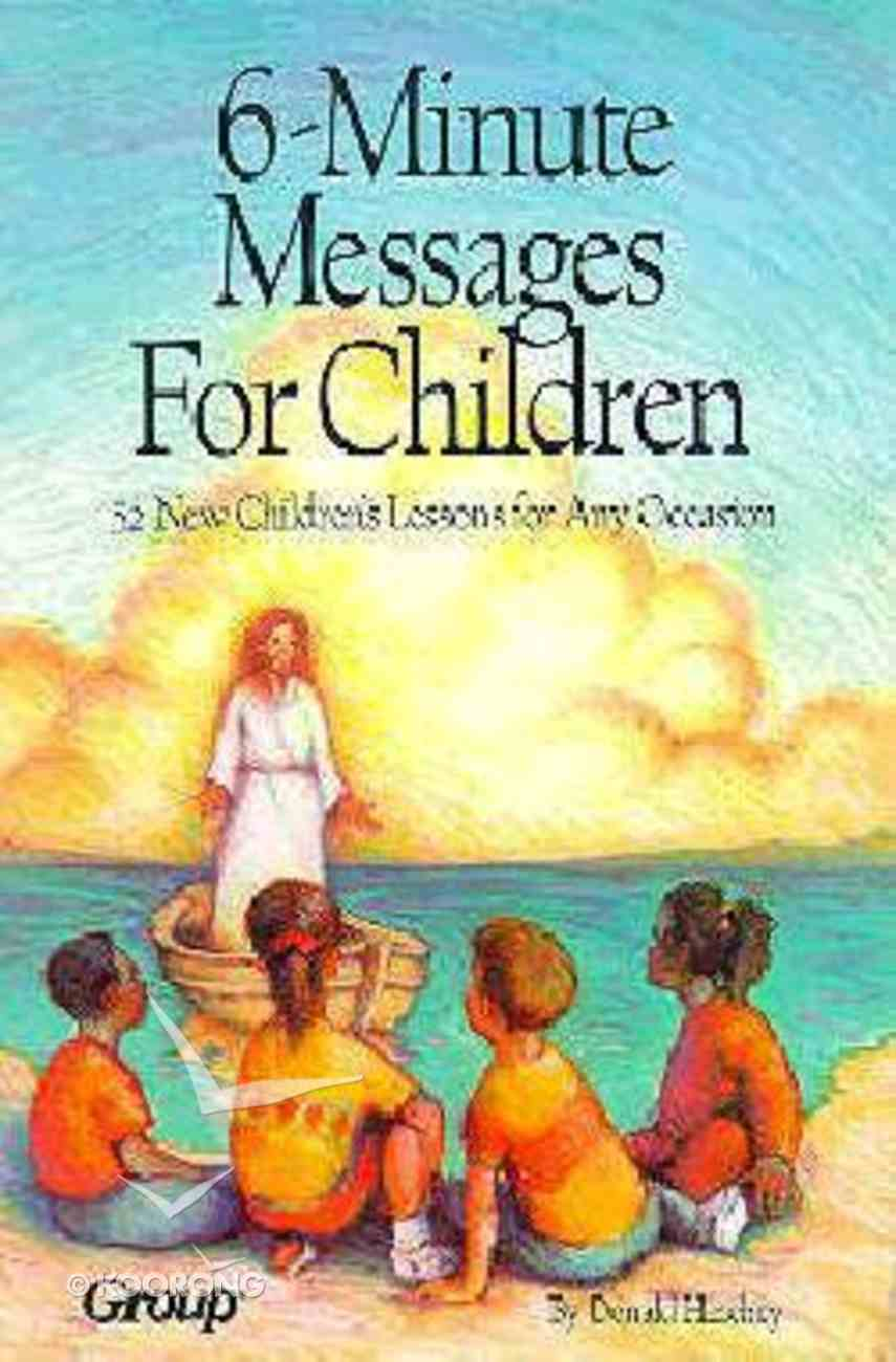 6-Minute Messages For Children Chart/card