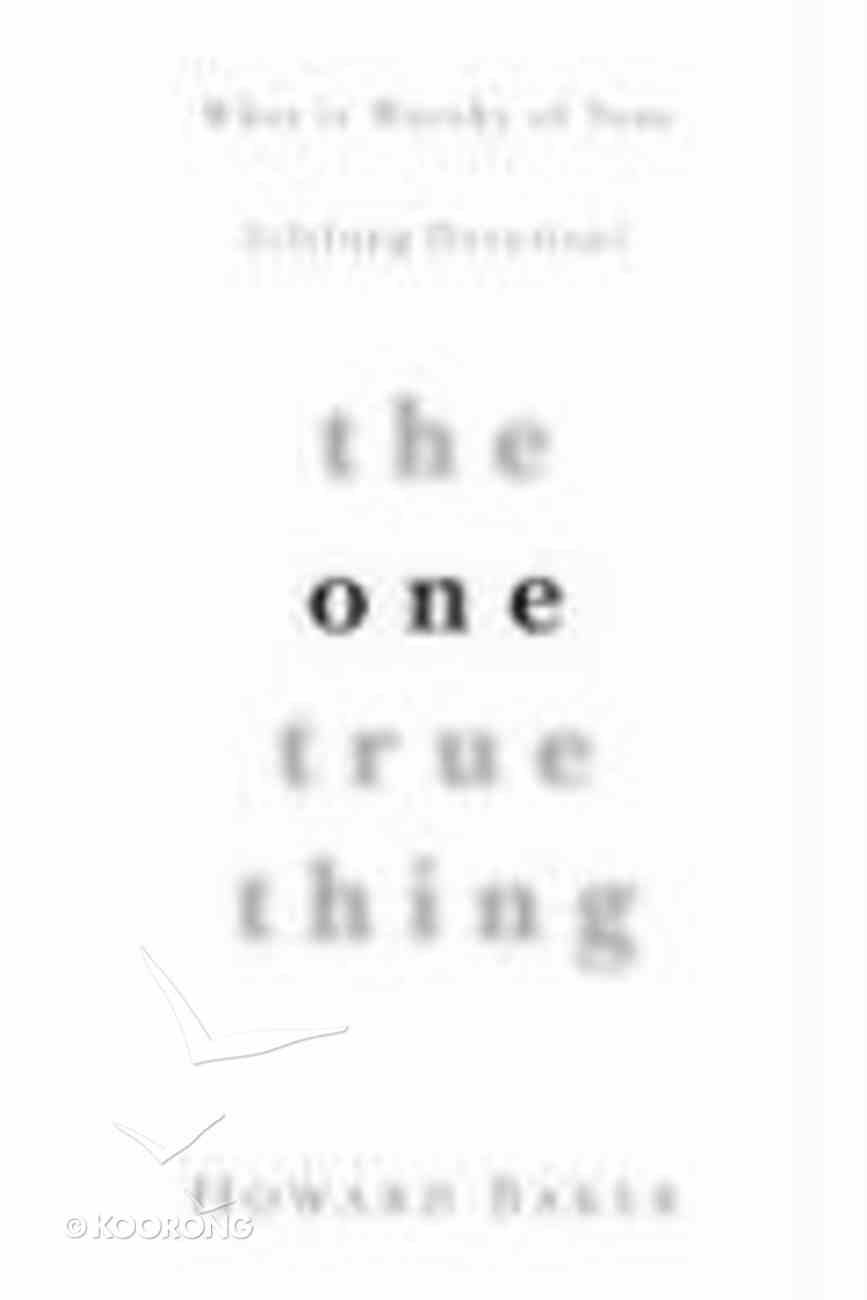 The One True Thing Paperback