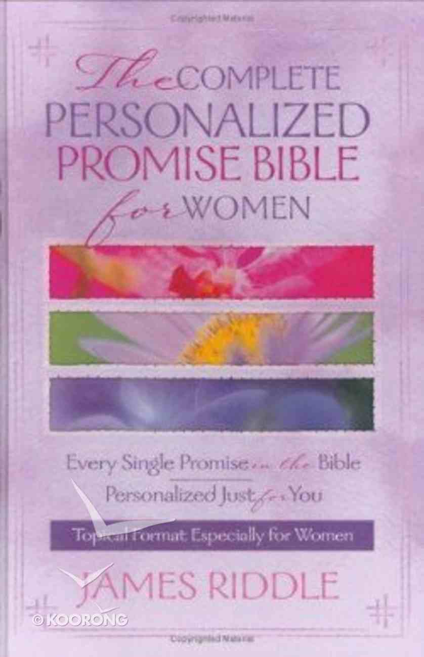 The Complete Personalized Promise Bible For Women Hardback