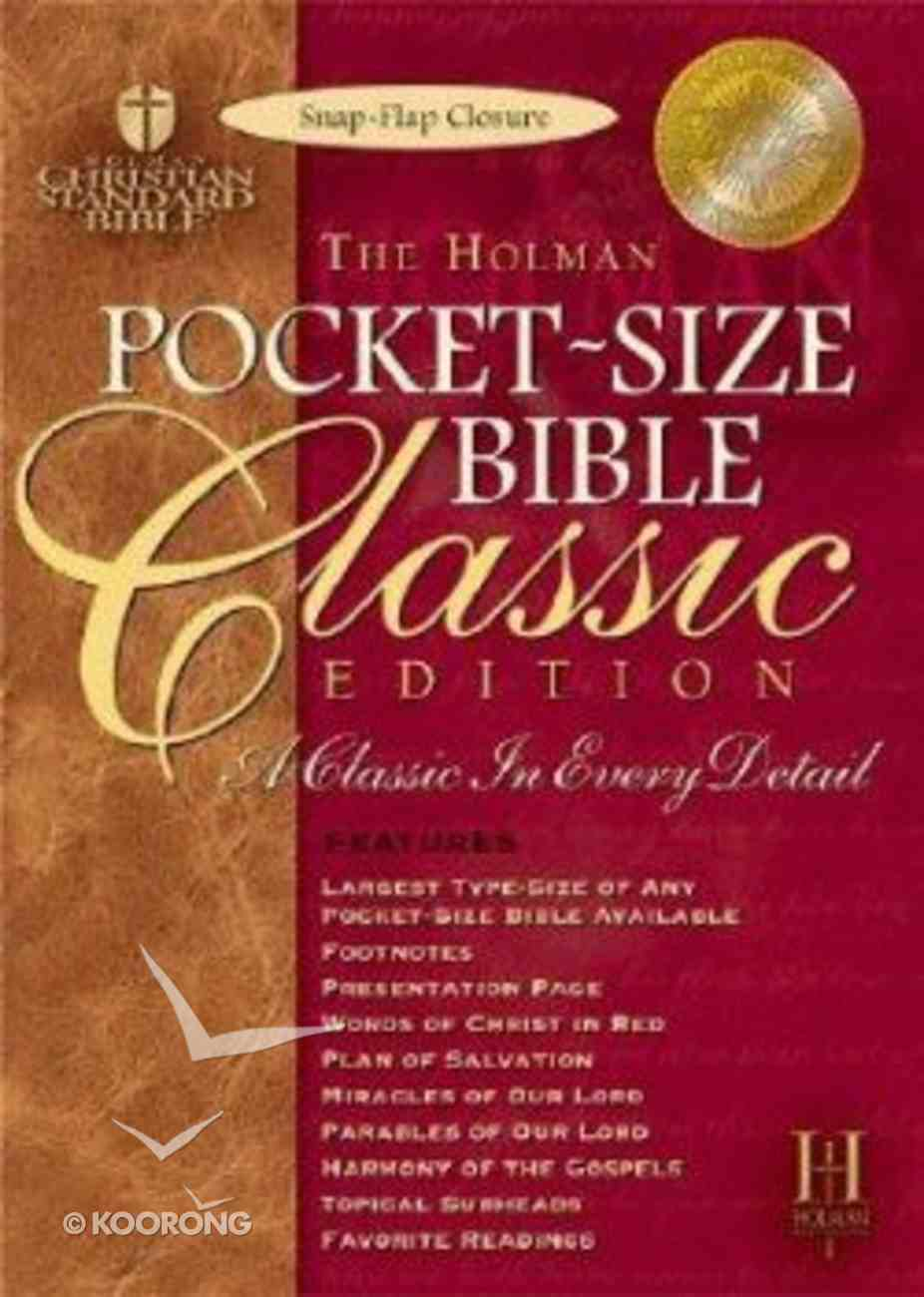 HCSB Pocket Size Classic Snap Flap Burgundy Bonded Leather