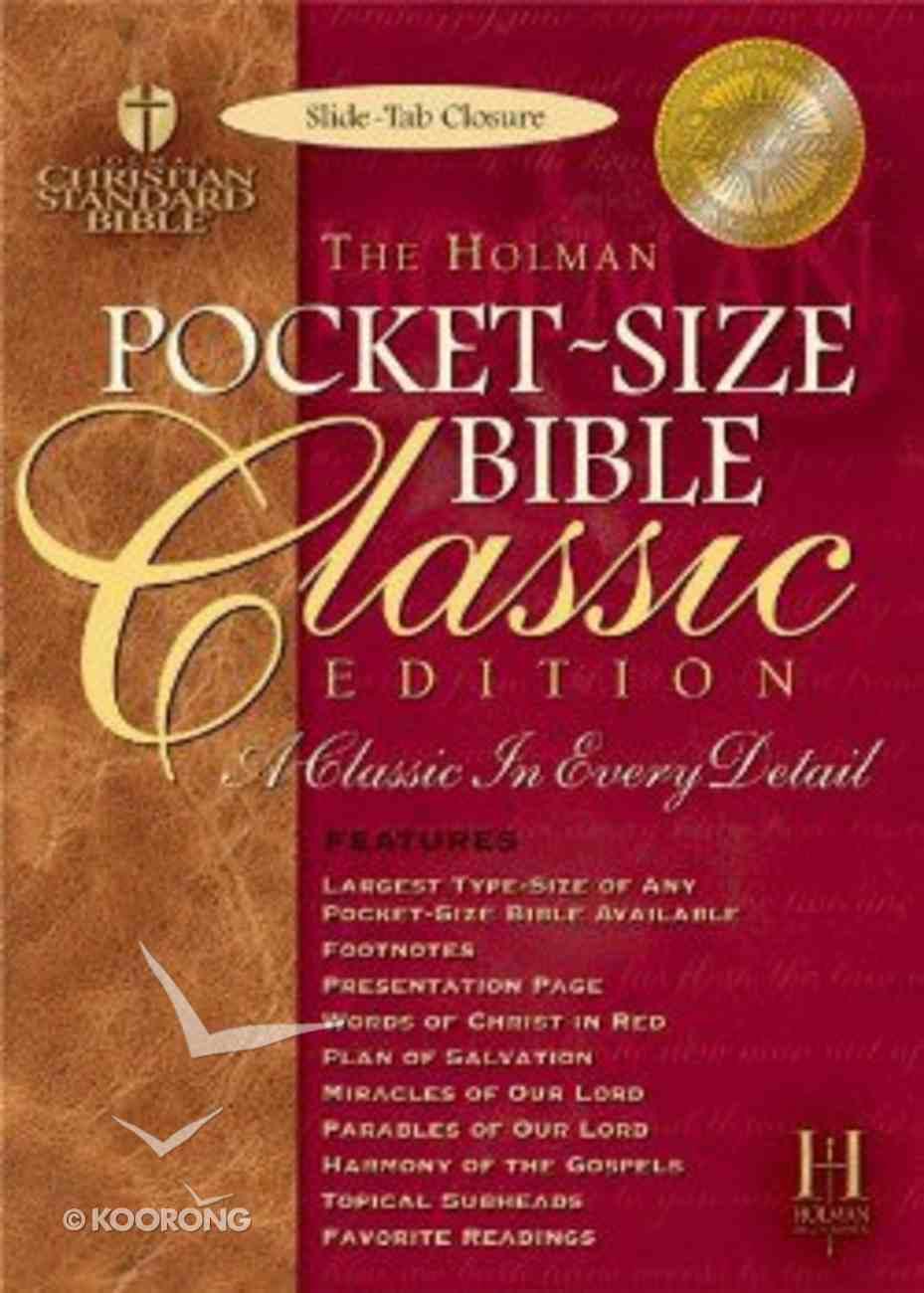 HCSB Pocket Size Classic Slide Tab Blue Bonded Leather