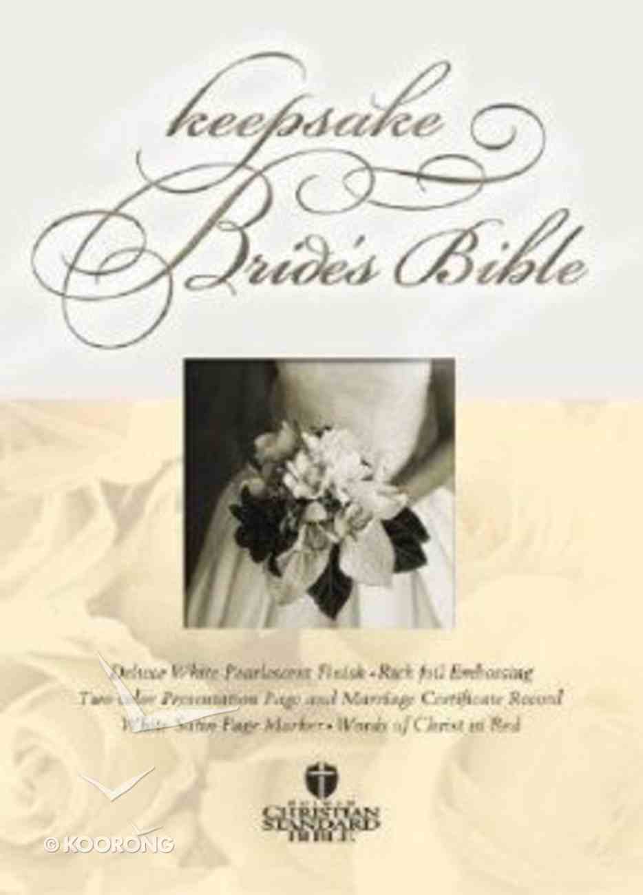 HCSB Keepsake Bride's Bible White (Red Letter Edition) Imitation Leather