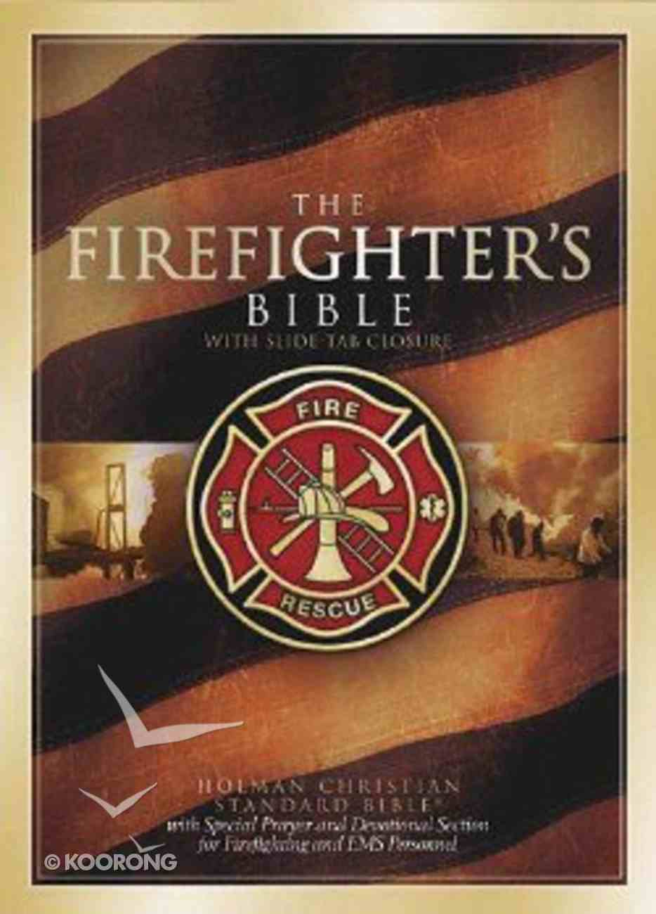 The HCSB Firefighter's Bible (Red Letter Edition) Bonded Leather
