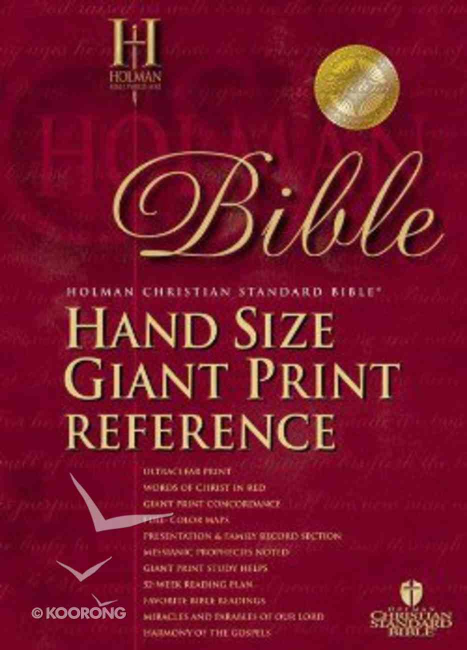 HCSB Hand Size Giant Print Reference Classic Edition Burgundy Bonded Leather