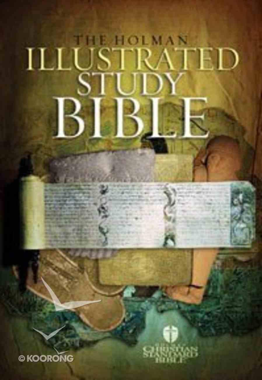 HCSB Illustrated Study Bible Burgundy Indexed Bonded Leather
