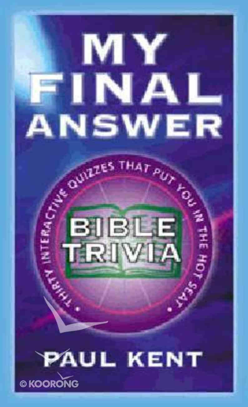 My Final Answer Paperback