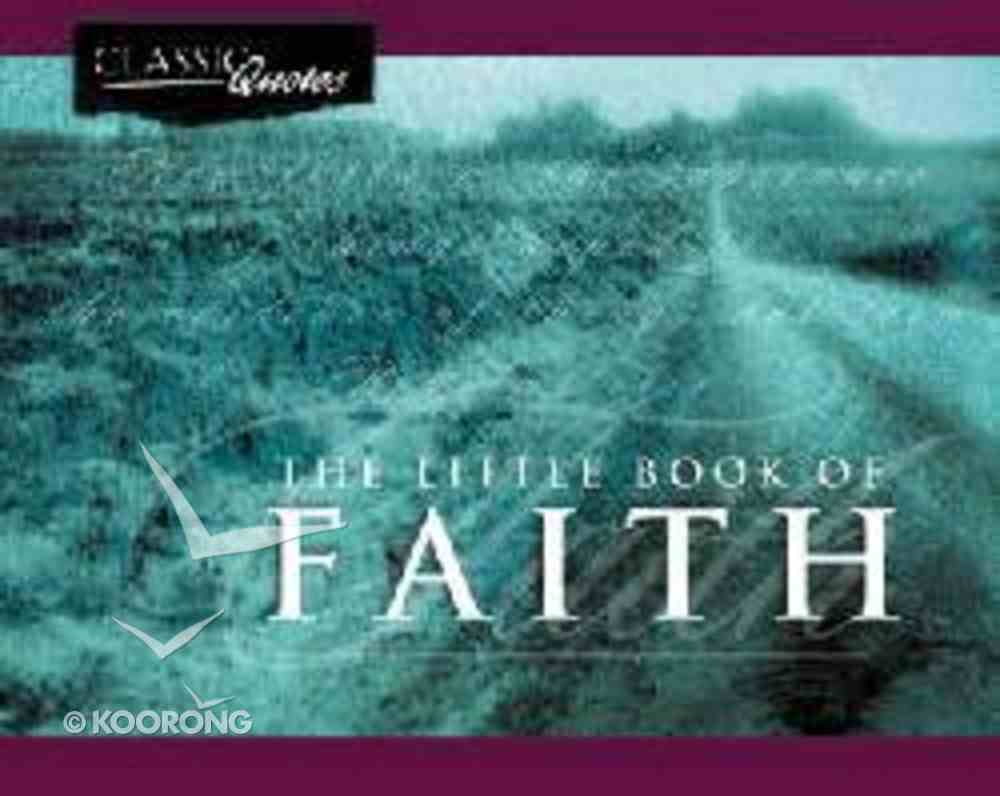 The Little Book of Faith Paperback