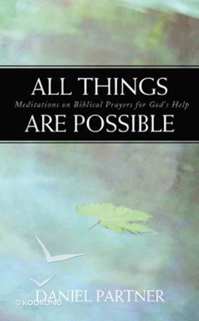 All Things Are Possible Paperback