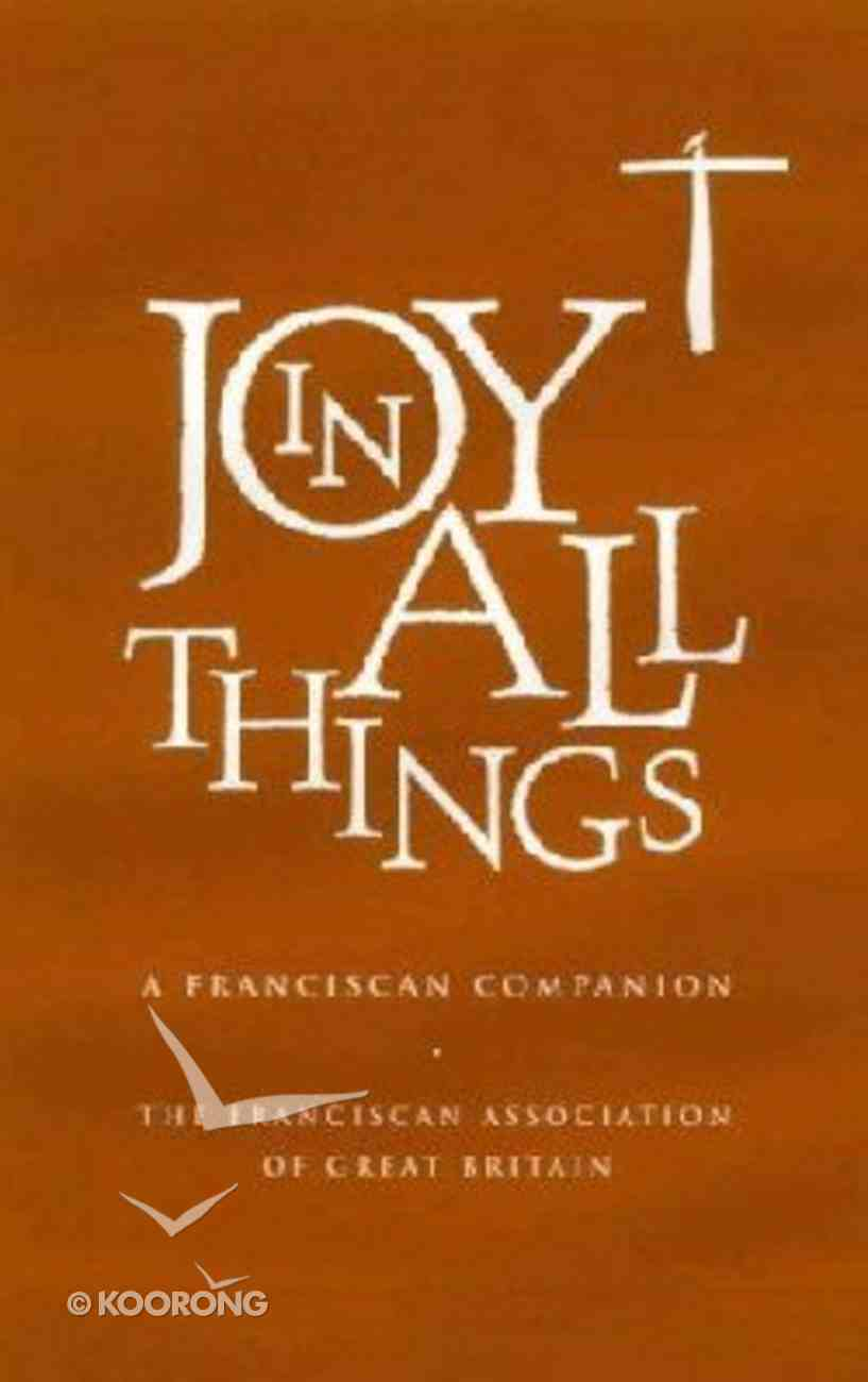 Joy in All Things Imitation Leather