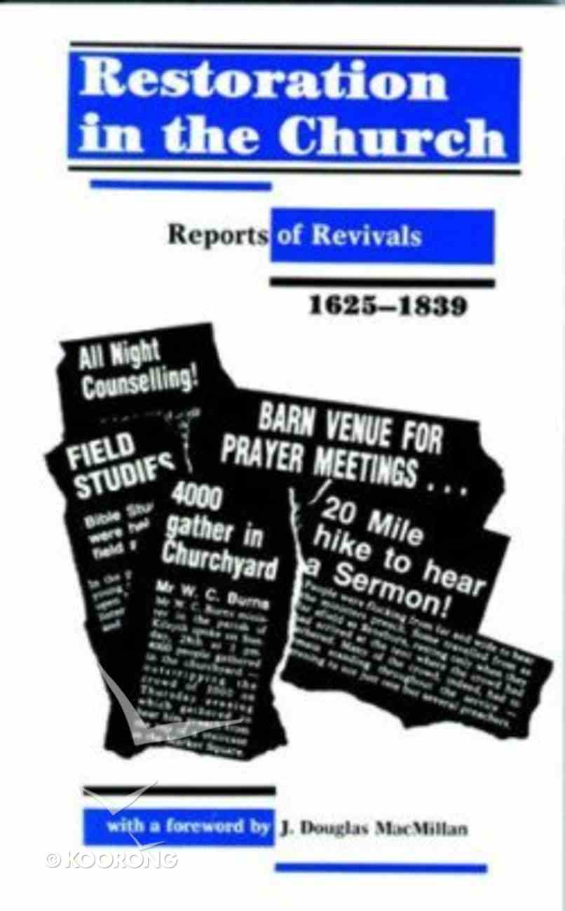 Restoration in the Church Paperback