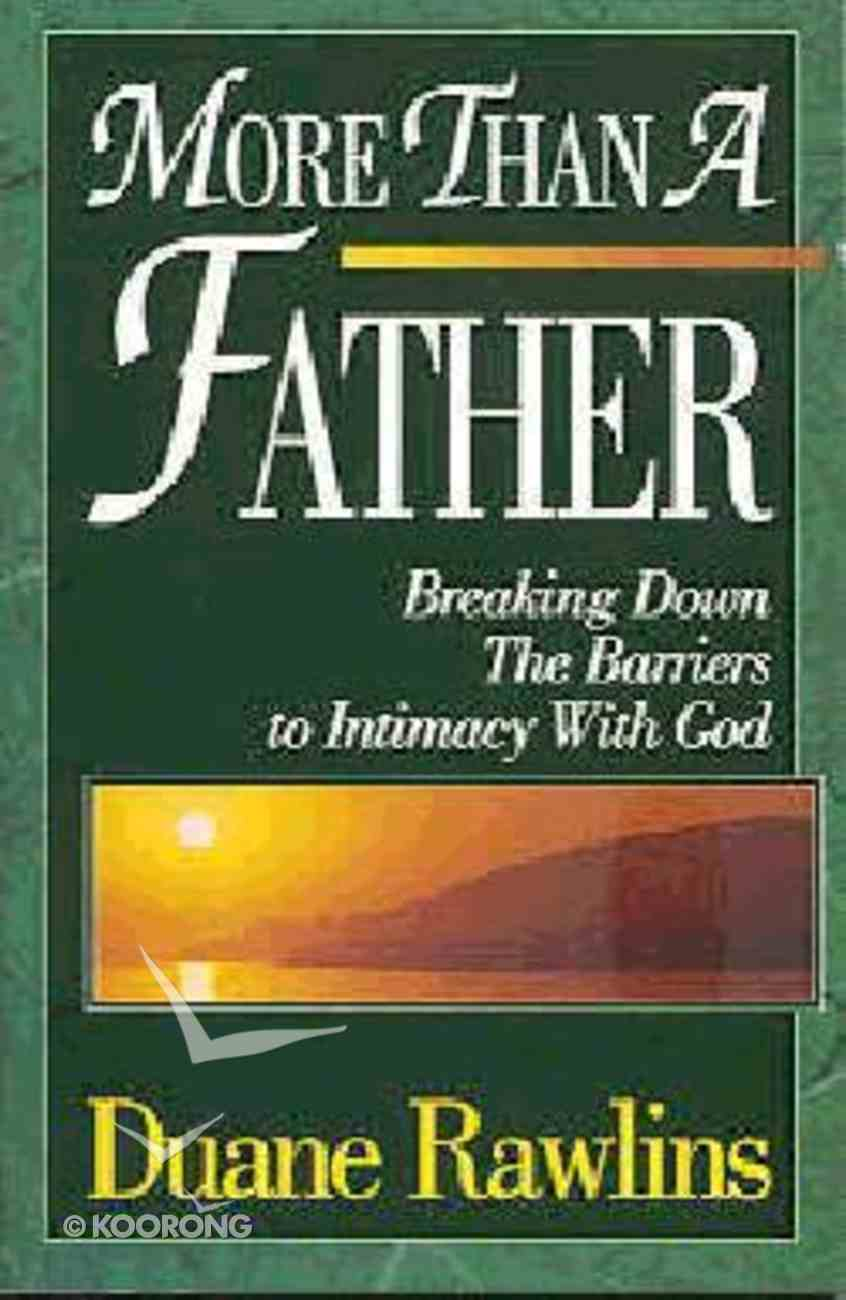 More Than a Father Paperback