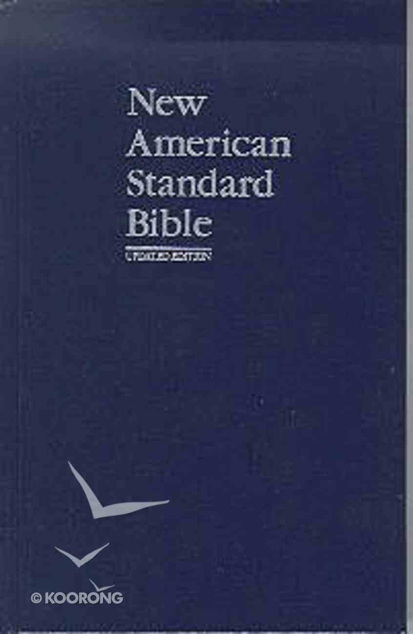 NASB Updated Edition Navy Pew Bible Hardback
