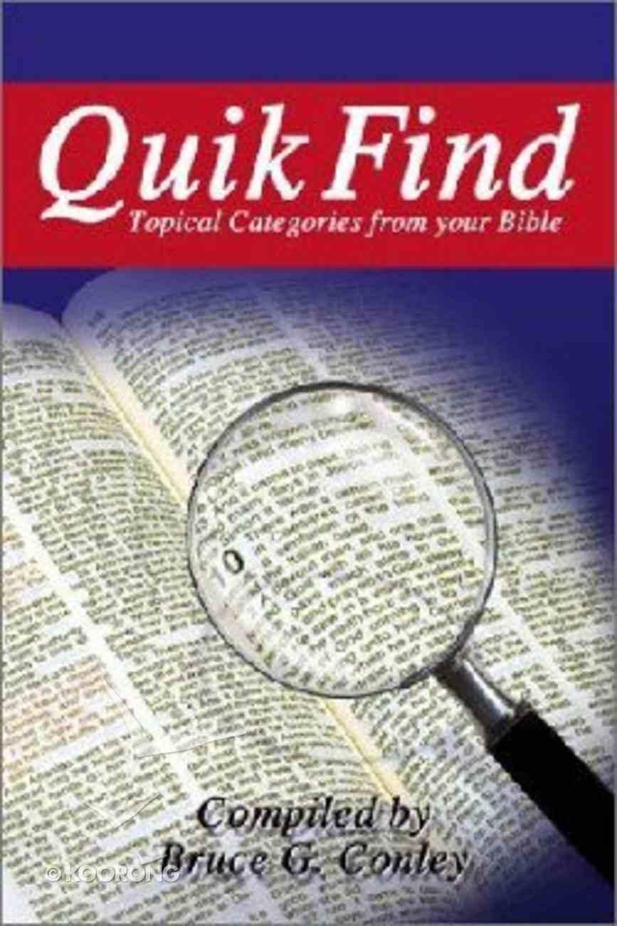 Quik Find Paperback