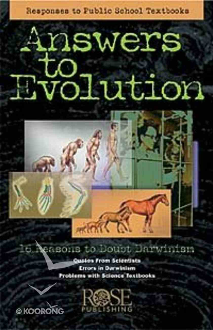 Answers to Evolution (Rose Guide Series) Pamphlet