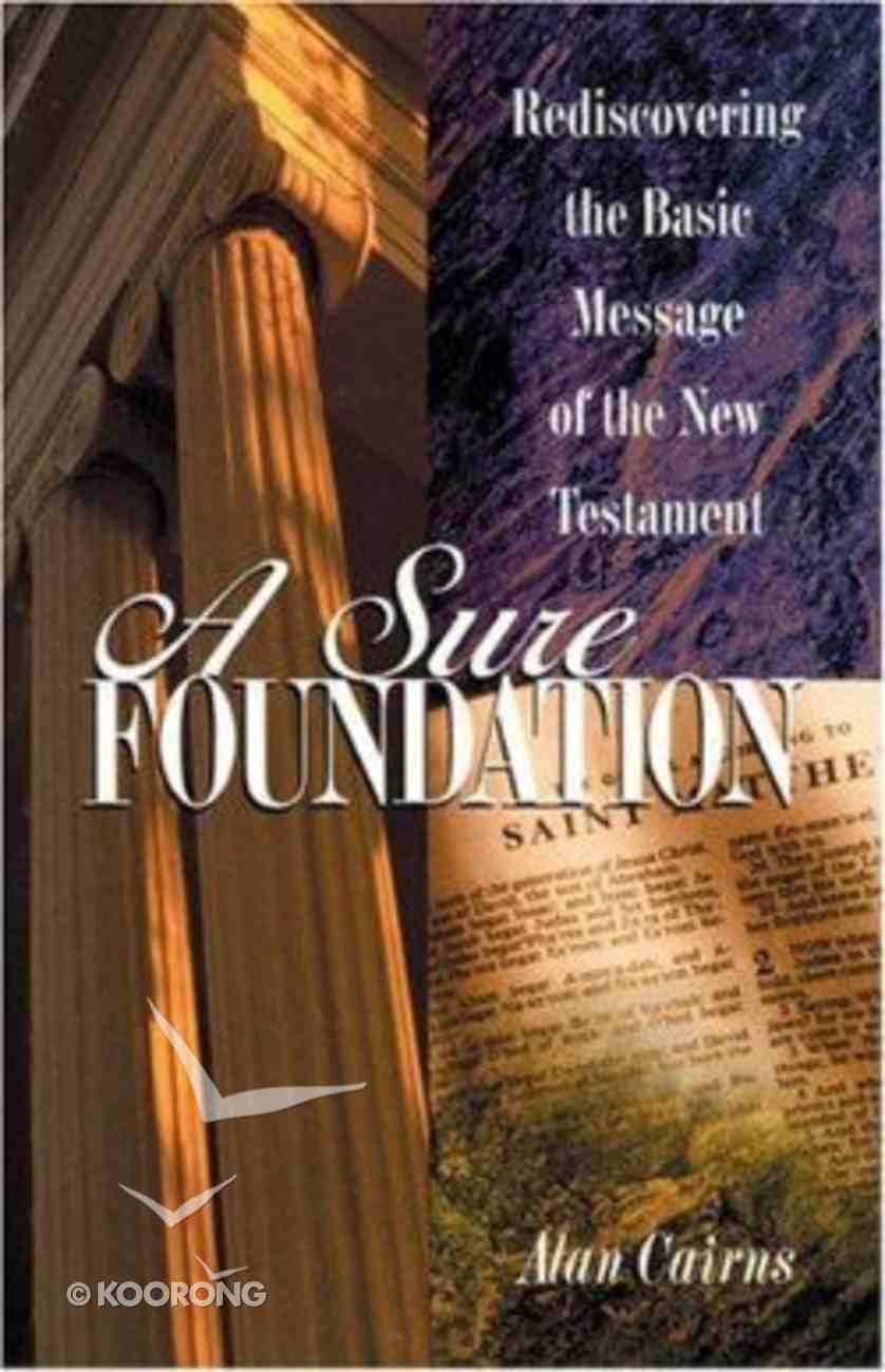 A Sure Foundation Paperback