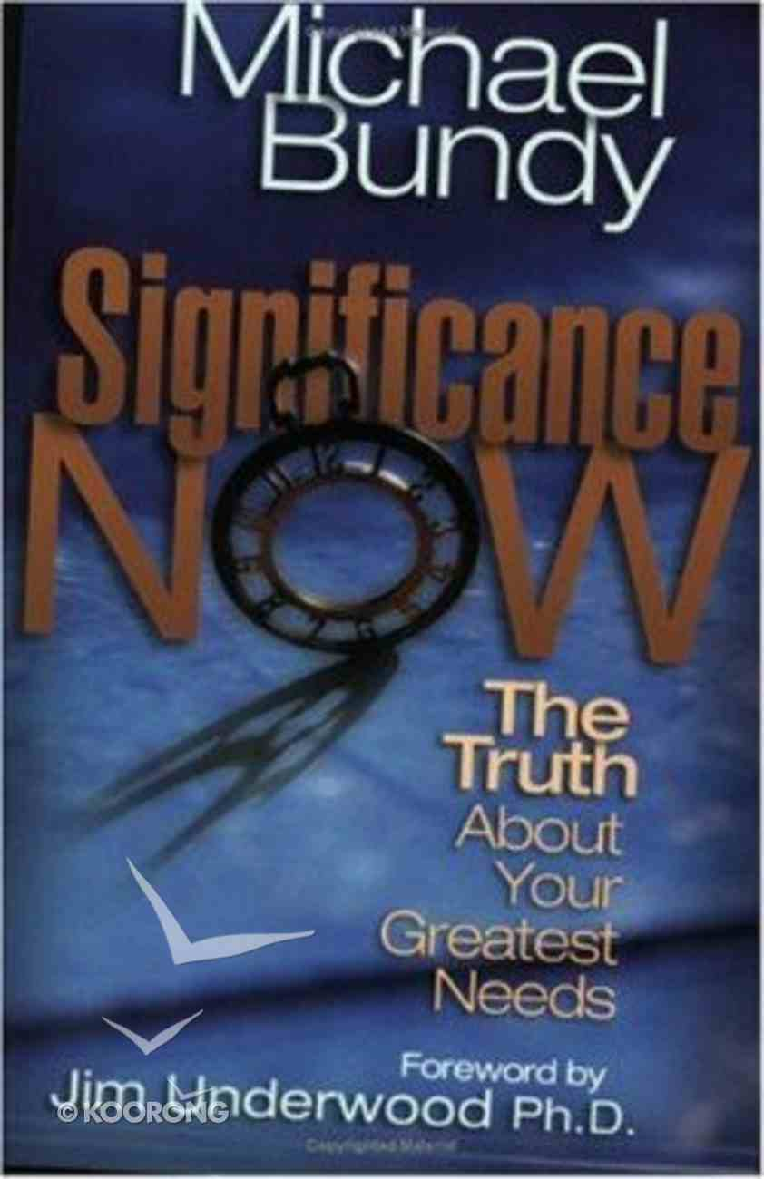 Significance Now Paperback