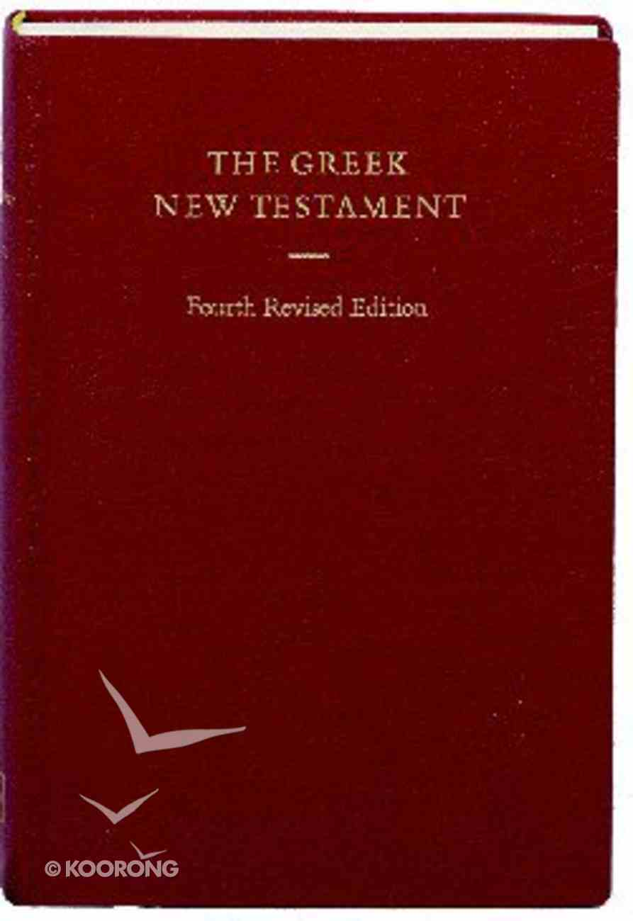 Greek New Testament Ubs4 4th Edition Burgundy Hardback