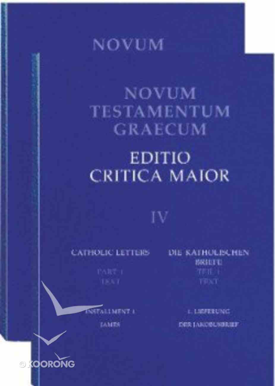 Greek New Testament Editio Critica Maior Paperback