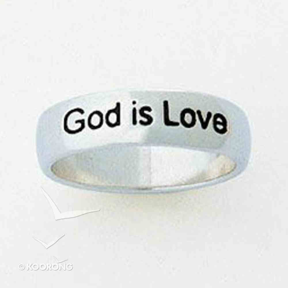 Ring: God is Love Size 5 (Sterling Silver) Jewellery