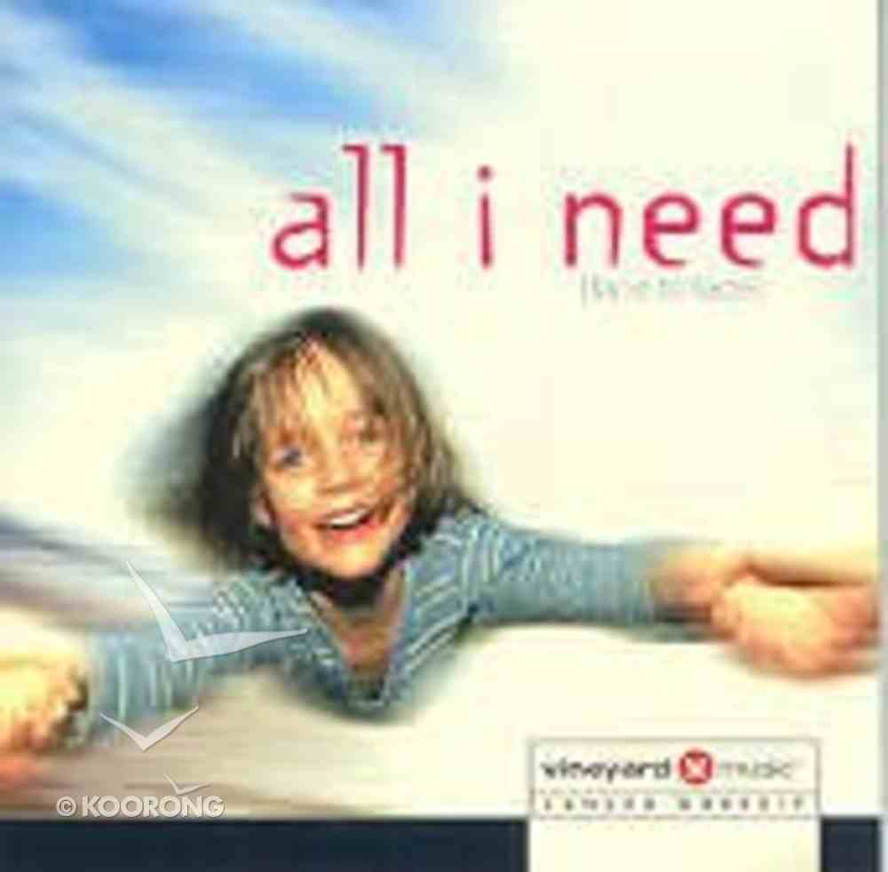 All I Need (Face To Face) CD