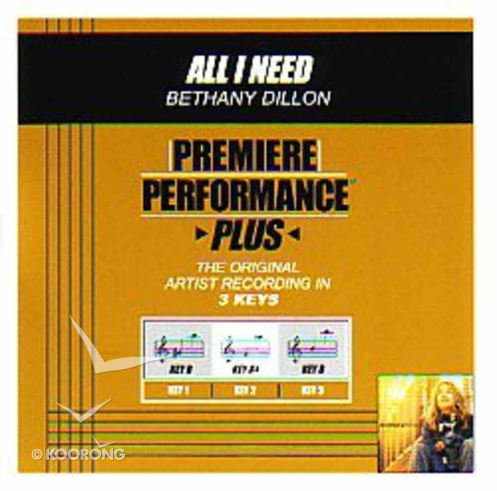 All I Need (Accompaniment) CD