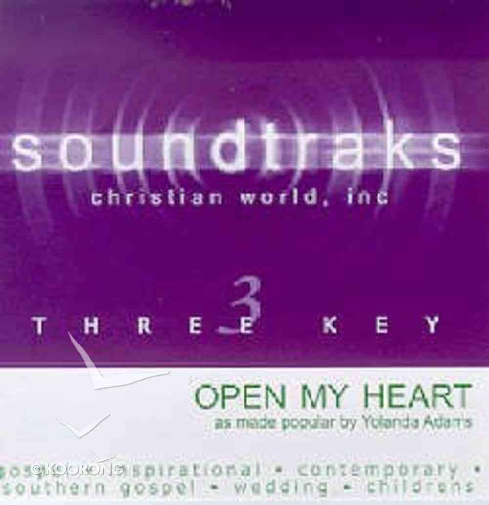 Open My Heart (Accompaniment) CD