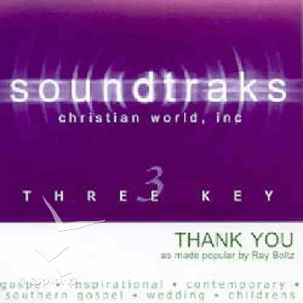 Thank You (Accompaniment) CD
