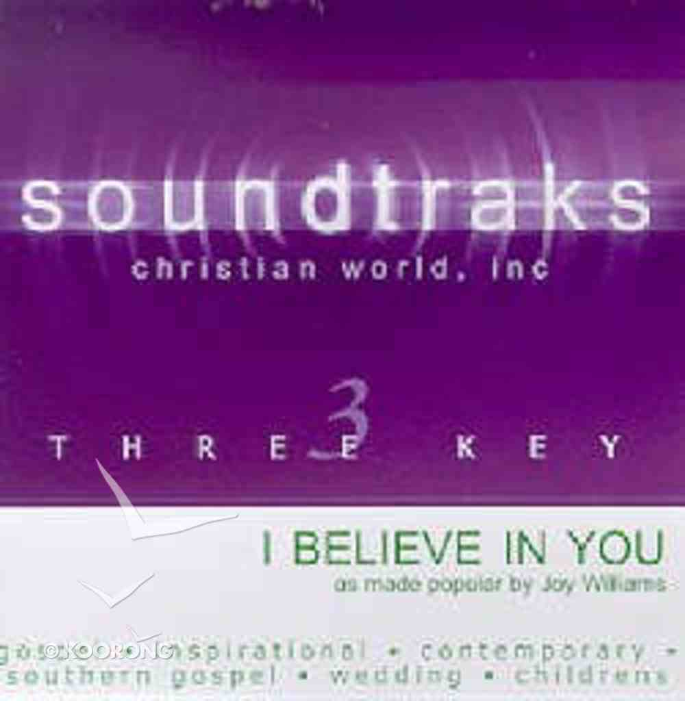I Believe in You (Accompaniment) CD