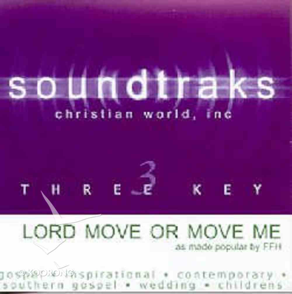 Lord Move Or Move Me (Accompaniment) CD