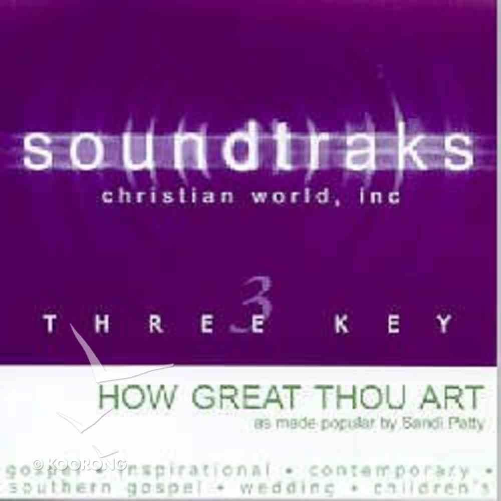 How Great Thou Art (Accompaniment) CD