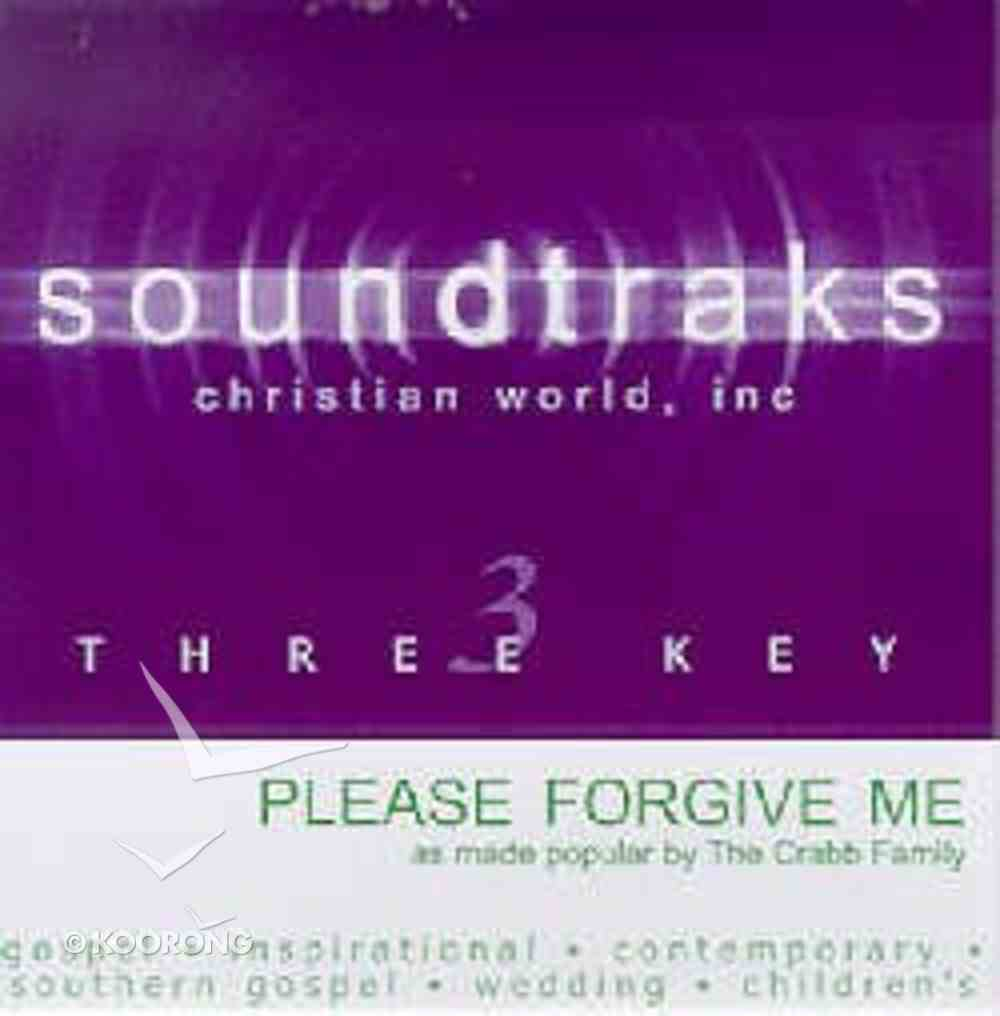 Please Forgive Me (Accompaniment) CD