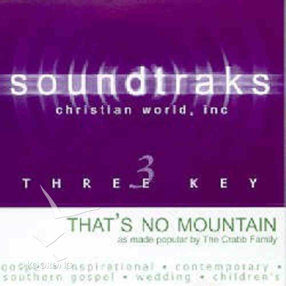 That's No Mountain (Accompaniment) CD