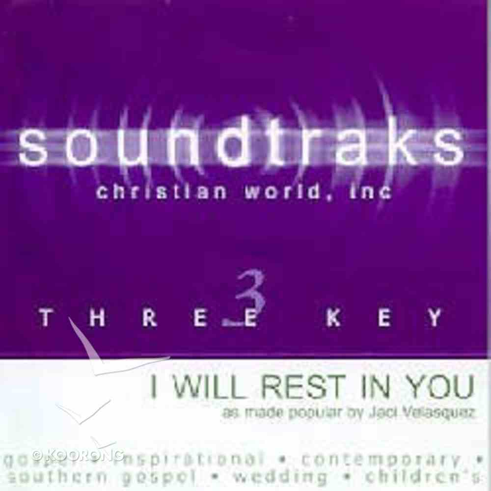 I Will Rest in You (Accompaniment) CD