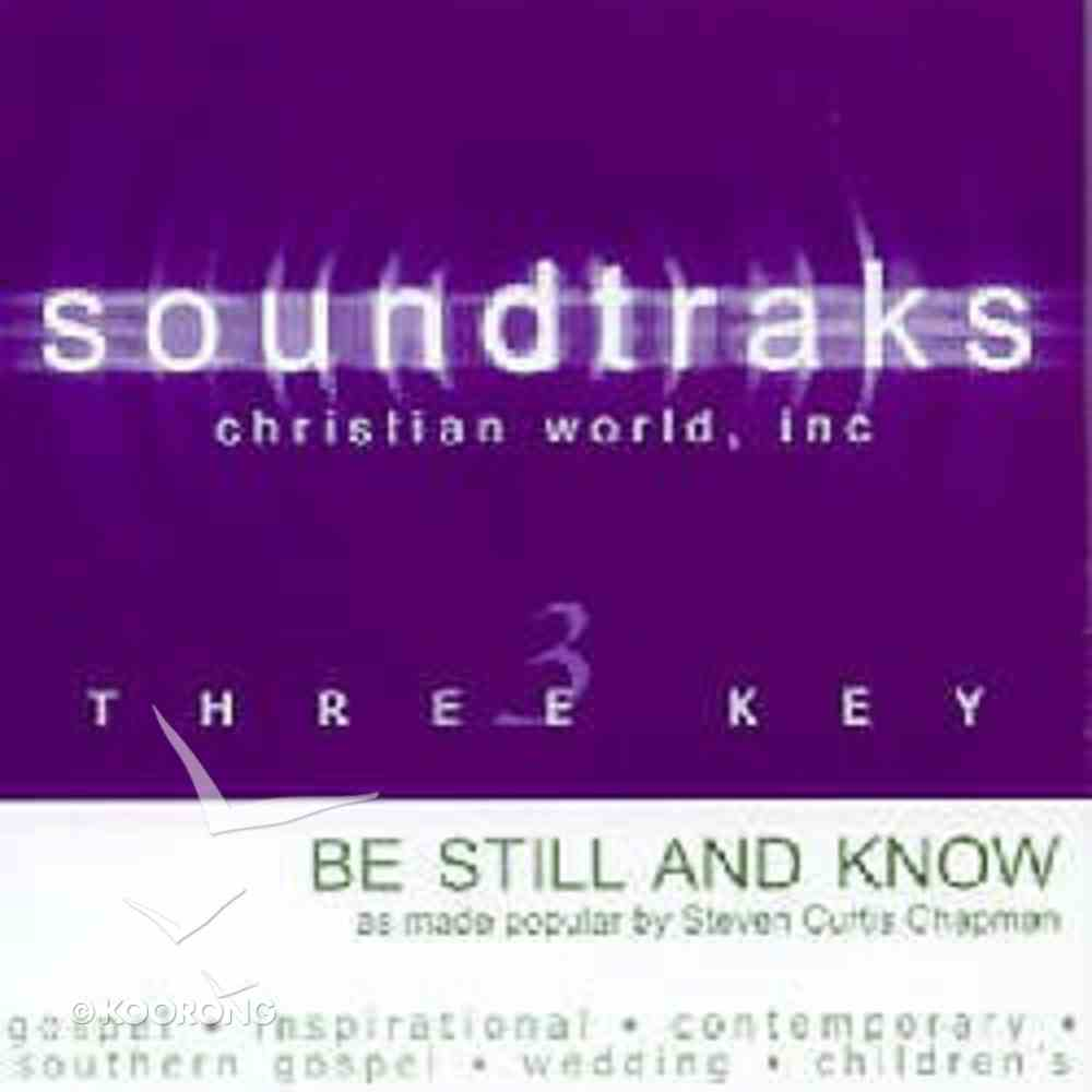 Be Still and Know (Accompaniment) CD