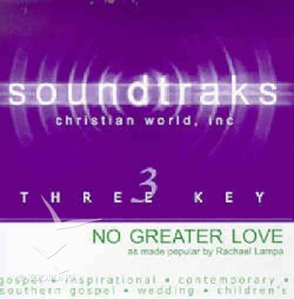No Greater Love (Accompaniment) CD