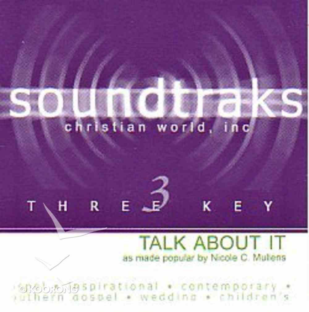 Talk About It (Accompaniment) CD