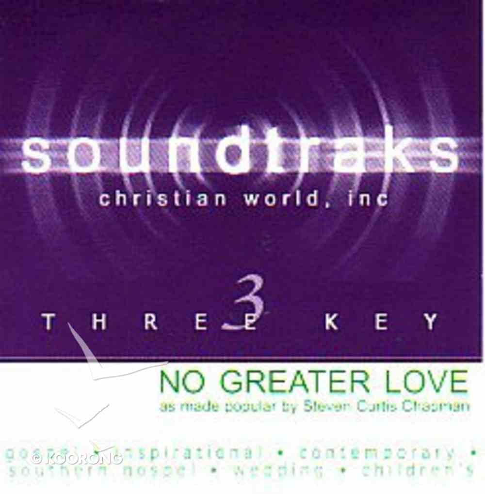 No Greater Love (Accompaniment) CD