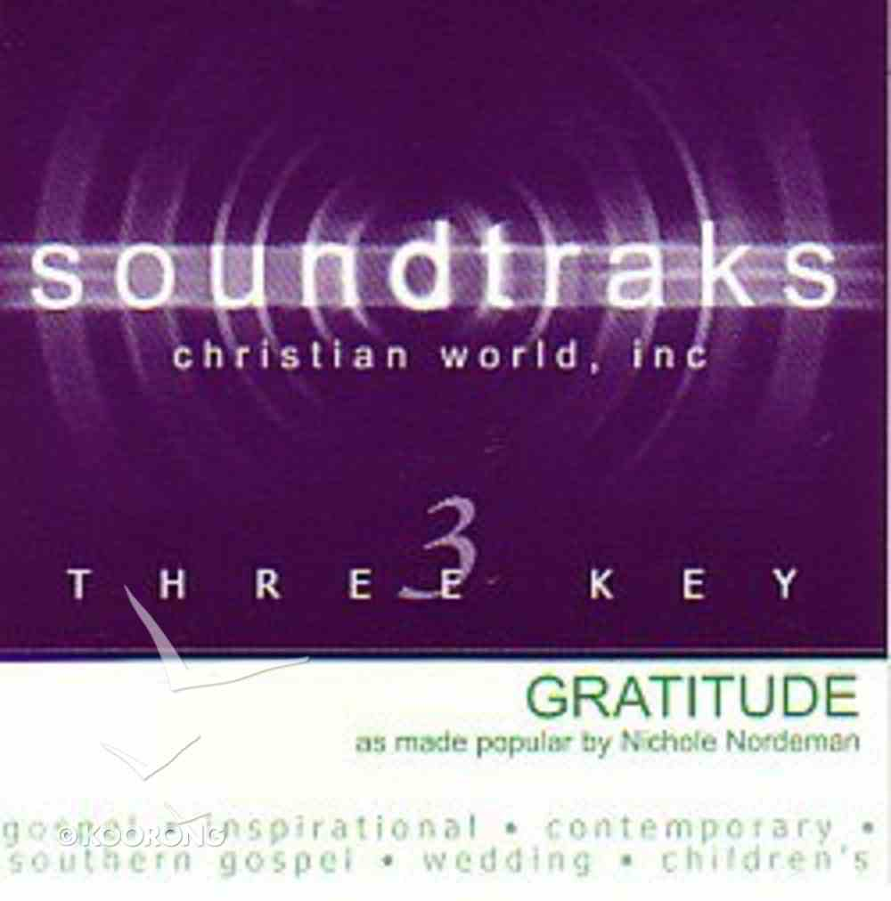 Gratitude (Accompaniment) CD