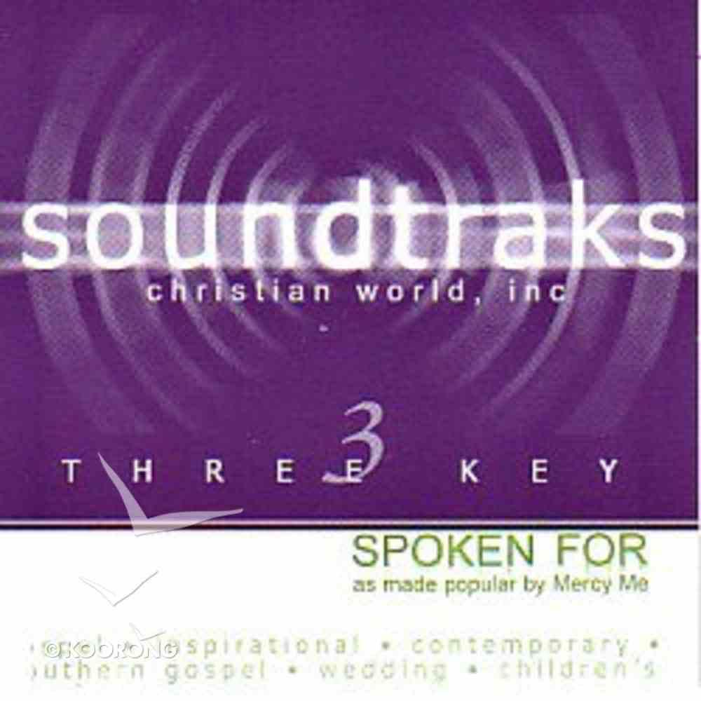 Spoken For (Accompaniment) CD