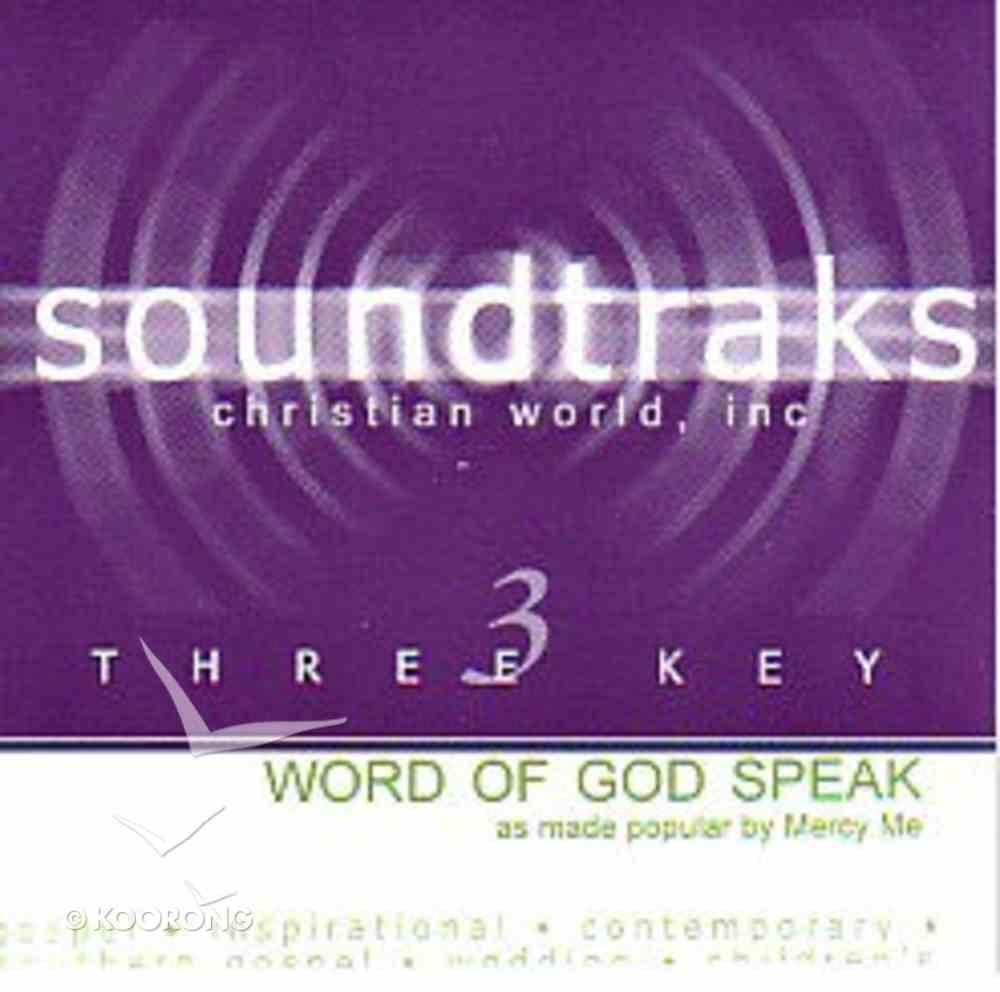Word of God Speak (Accompaniment) (Word Of God Speak Series) CD