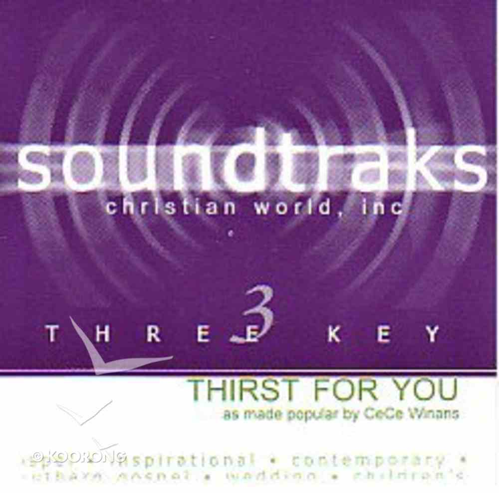 Thirst For You (Accompaniment) CD
