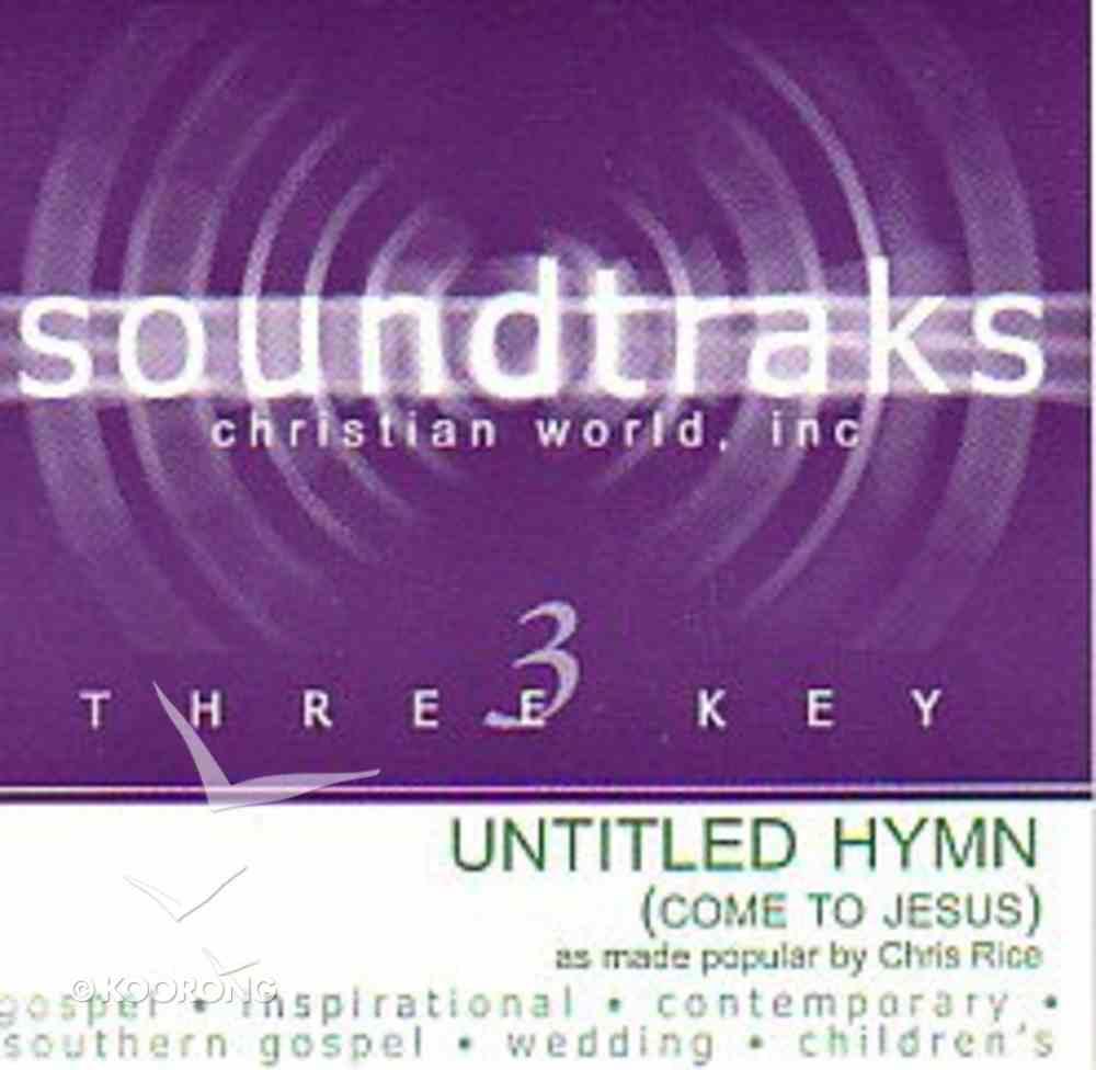 Come to Jesus (Accompaniment) CD