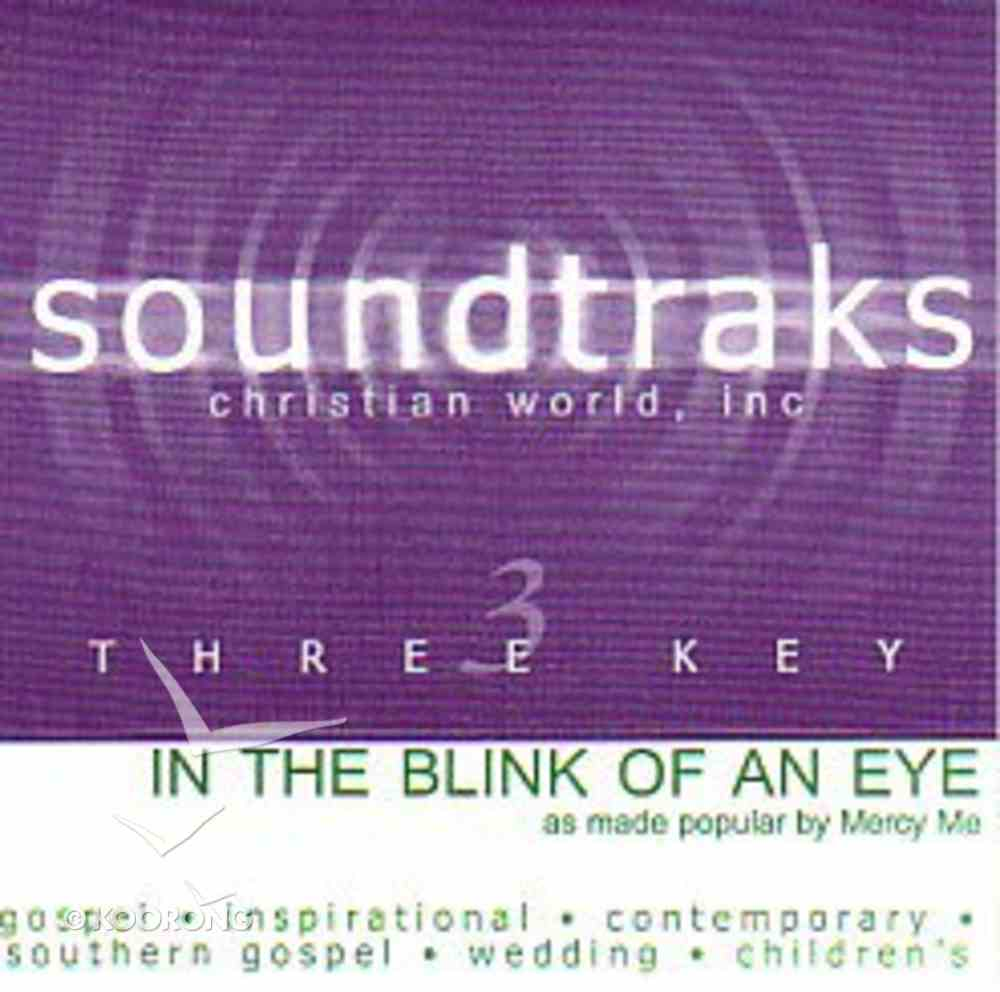 In the Blink of An Eye (Accompaniment) CD
