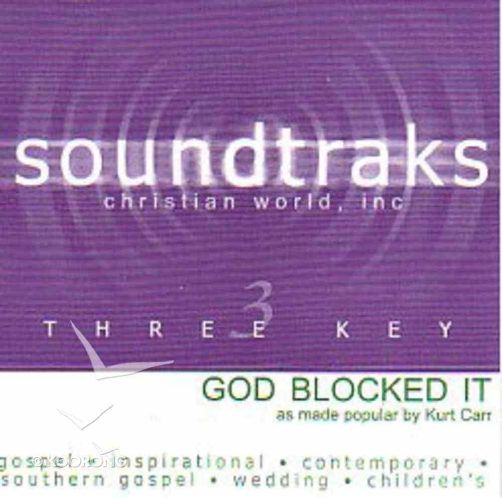 God Blocked It (Accompaniment) CD