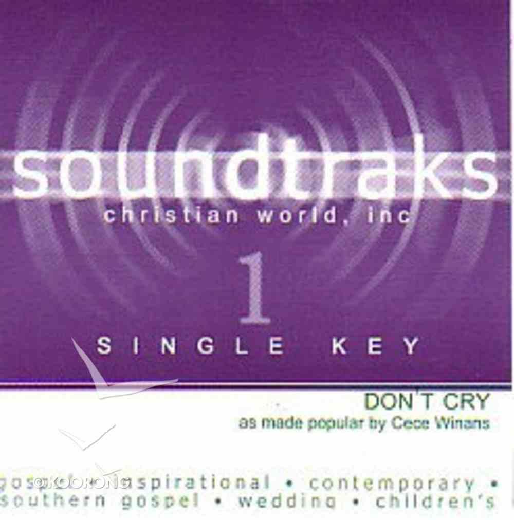 Don't Cry (Accompaniment) CD