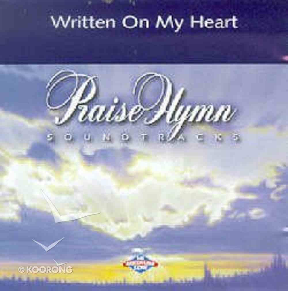 Written on My Heart (Accompaniment) CD