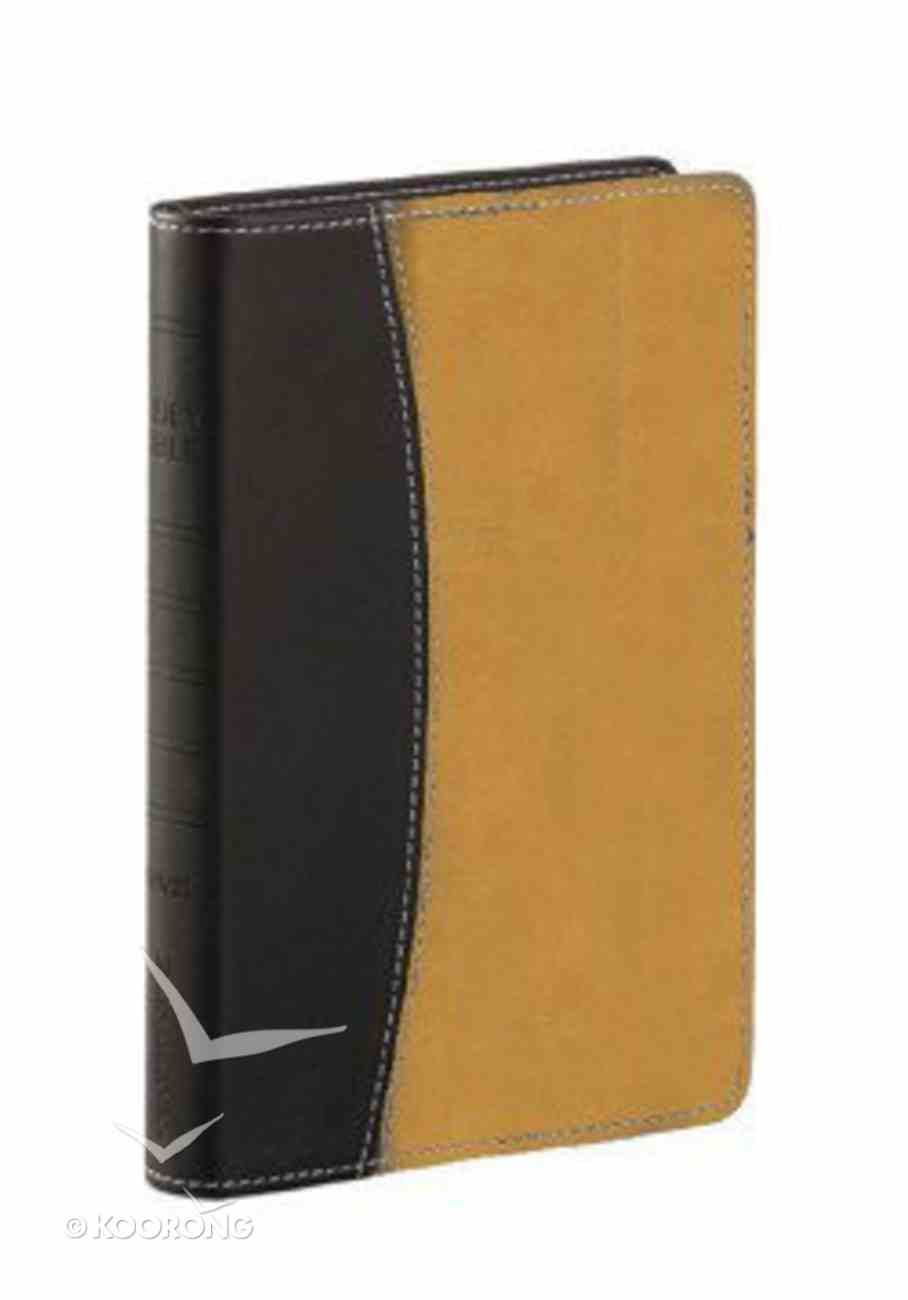Rvr 1960 Biblia De La Vida Victoriosa, Dos Tonos Italiano Genuine Leather