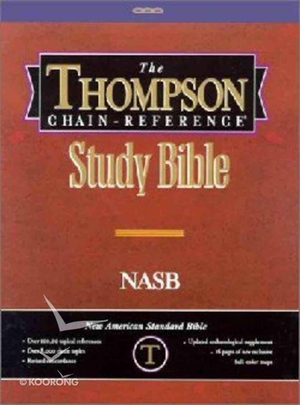 NASB Thompson Chain Reference Black (Red Letter Edition) (1977 Edition) Genuine Leather