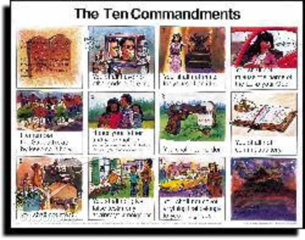 Wall Chart: Ten Commandments (Laminated) (Niv) Chart/card
